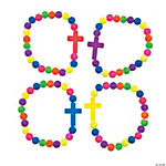 Bright Beaded Cross Bracelet Craft Kit