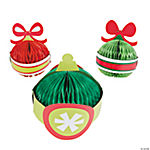 Bright Christmas Ornaments Tissue Paper Centerpieces