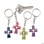Bright Color Cross Key Chains