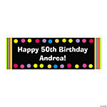 Bright Dots Personalized Birthday Banner - Small