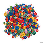 Bright Rainbow Craft Buttons
