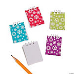 Bright Snowflake Mini Notepads