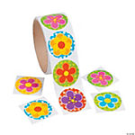 Bright Spring Flower Roll of Stickers