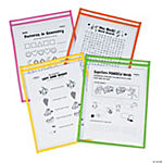 Bright Top-Loading Dry Erase Sleeves
