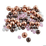 Brown Pearl & Bicone Crystal Bead Mix