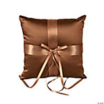 Brown Satin Wedding Ring Pillow