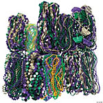 Bulk Mardi Gras Beads Mega Assortment - 500 pcs.