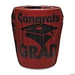 Burgundy Congrats Grad Trash Can Cover