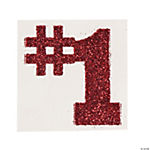 #1 Burgundy Glitter Tattoo Stickers