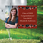 Burgundy Graduation Custom Photo Yard Sign