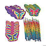 Buy All & Save Neon Butterfly Stationery