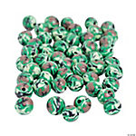 Camouflage Round Beads