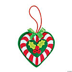 Candy Cane Heart Ornament Craft Kit