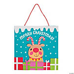 Candy Cane Reindeer Sign Craft Kit