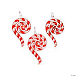 Candy Cane Swirl Premium Glass Pendants