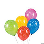 Celebration Print Latex Balloon Assortment