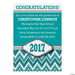 2016 Chevron Personalized Graduation Invitations