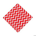 Chevron Red Luncheon Napkins