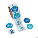 Child Abuse Awareness Roll of Stickers