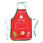 Child Holiday Baking Apron
