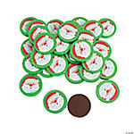 Chocolate Christmas Coins with Stickers