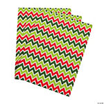 Christmas Chevron Adhesive Sheets