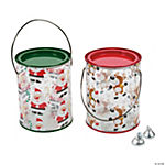 Christmas Paint Can Containers with Lids