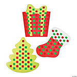 Christmas Shapes Weaving Mat Craft Kit