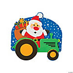 Christmas Tractor Magnet Craft Kit