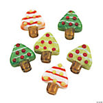 Christmas Tree Flat Lampwork Beads - 16mm
