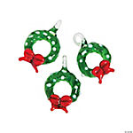 Christmas Wreath Premium Glass Charms