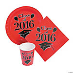 Class of 2016 Red Tableware Set