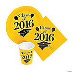 Class of 2016 Yellow Tableware Set