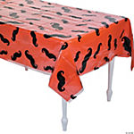 Clear Mustache Tablecloth