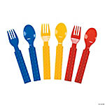 Color Brick Party Fork & Spoon Set
