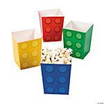 Color Brick Party Popcorn Boxes