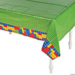 Color Brick Party Tablecloth