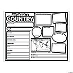 "Color Your Own ""All About a Country"" Posters"