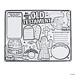 "Color Your Own ""All About The Old Testament"" Posters"