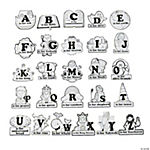 Color Your Own Alphabet Bible Shapes