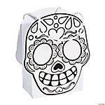 Color Your Own Day of the Dead Treat Bags