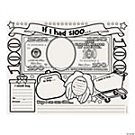 "Color Your Own ""If I Had $100"" Posters"