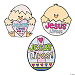 "Color Your Own ""Jesus Lives"" Easter Chick Magnet Craft Kit"