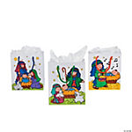 Color Your Own Nativity Bags