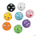 Colorful Beads with Rhinestones