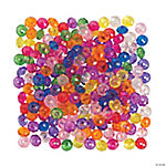 Colorful Clear Disc Beads - 6mm x 10mm