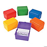 Colorful Index Card Storage Boxes