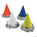 Cone Hats with Tinsel
