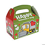 Construction Truck Valentine's Day Favor Boxes