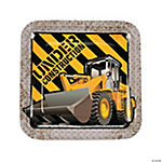 Construction Zone Dinner Plates